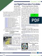 Library of Congress Digital Preservation Newsletter