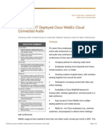 How Cisco IT Deployed Cisco WebEx Cloud Connected Audio