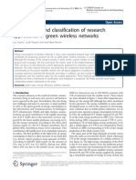 An Overview and Classification of Research Approaches in Green Wireless Networks