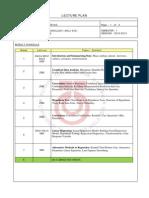 MAL1303 Course Plan 2012