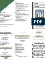 Church Bulletin- September 23
