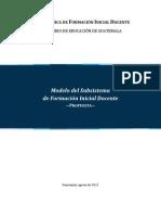 Modelo de subsistema de formación inicial docente ag 2012