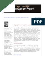 Innovation Watch Newsletter 11.19 - September 22, 2012