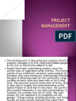 Background and Principles of Project Management