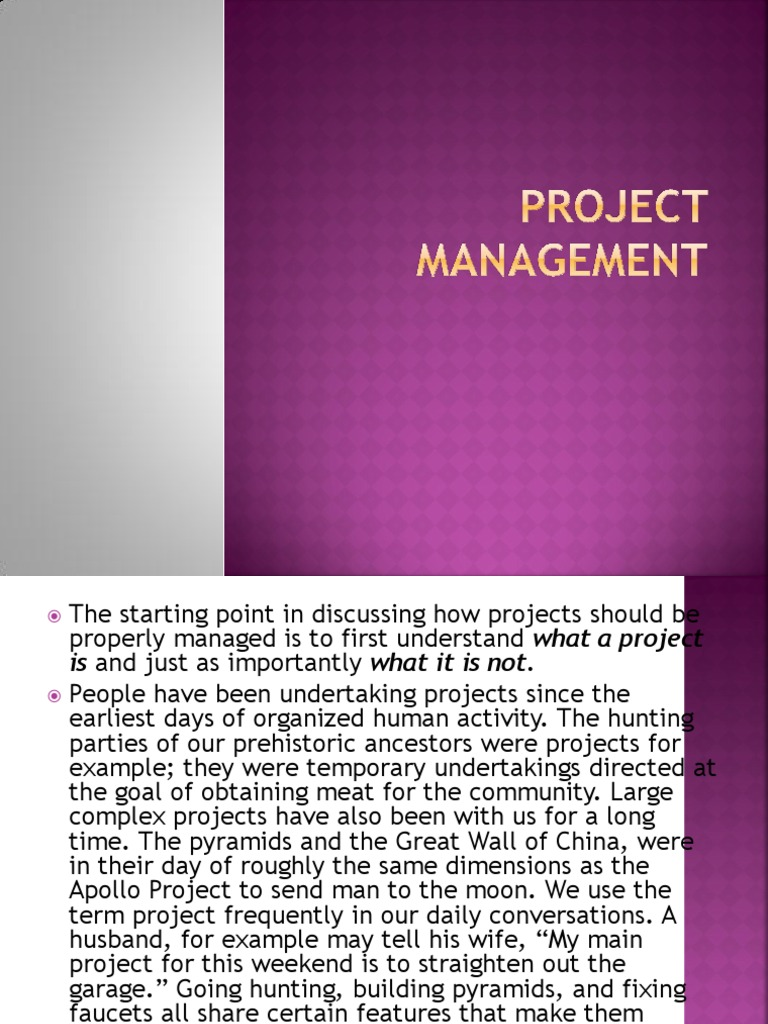 Do my project management assignment