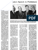 The Press Reports on President John F Kennedy's Secret Societies Speech April 28, 1961