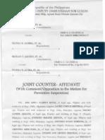 Joint-Counter Affidavit of VMayor Ana and SB Members