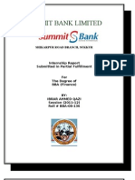 Final Internship Report on Summit Bank by Ibrar a. Qazi