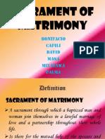 Sacrament of Matrimony1.