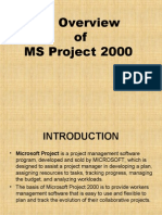Overview of MS Project 2000