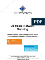 TeleRes LTE Planning Optimisation 2012 Aug