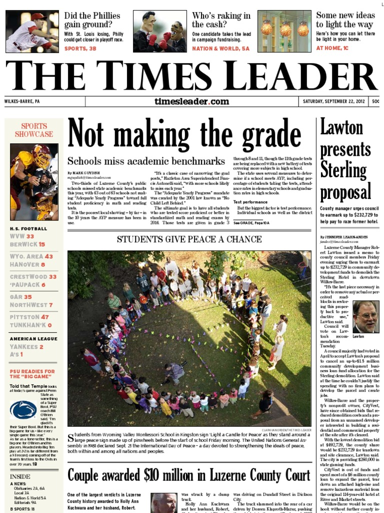 Times Leader 09-22-2012 | Mitt Romney | United States Government