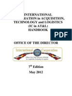 International Cooperation in Acquisition, Technology and Logistics Handbook May 18, 2012