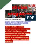 Noticias Uruguayas sábado 22 de setiembre del 2012