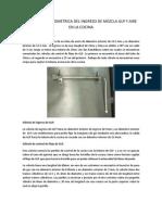 Descripcion geometrica de una cocina a gas MINSA