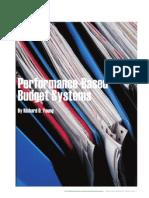 Performance Based Budgets