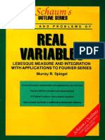 Spiegel M.R. Real Variables, Lebesque Measure With Applications to Fourier Series 1990
