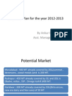Business Plan for the Year 2012-2013