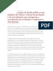 Projecto de Resolução do PCP - pela renegociação da dívida pública e...