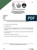 PMR Trial 2012 Geo (Perak) Q&A