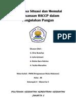 Analisa Situasi dan Memulai Pelaksanaan HACCP dalam Pengolahan Pangan