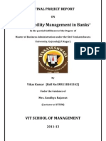 Assets Liability Management in Banks