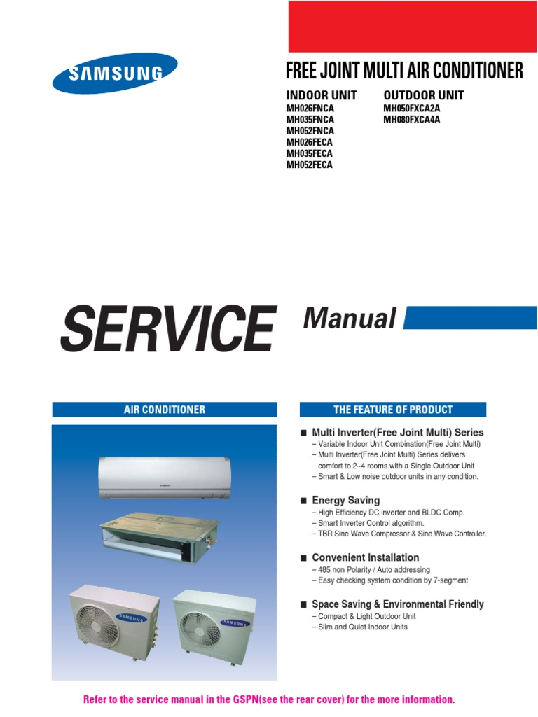 Samsung Mh080fxca4a Service Manual Air Conditioning Power Inverter Outdoor Led Display Wiring Diagram