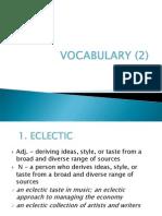 Vocabulary (2)
