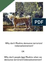 Muslims Denouncing Violence