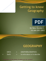 Lecture 1. Intro to Geography