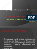 Psychology and Sociology of Law Enforcement - Copy