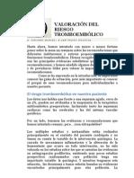 VALORACIÓN DEL RIESGO TROMBOEMBÓLICO PREOPERATORIO