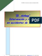 Bomberos rescate vehículos con airbag