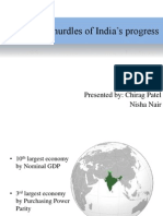 Hurdles to India's Progress