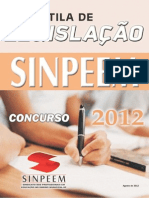 APOSTILA LEGISLAÇÃO 2012 SINPEEM