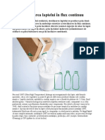 Sterilizarea laptelui în flux continuu