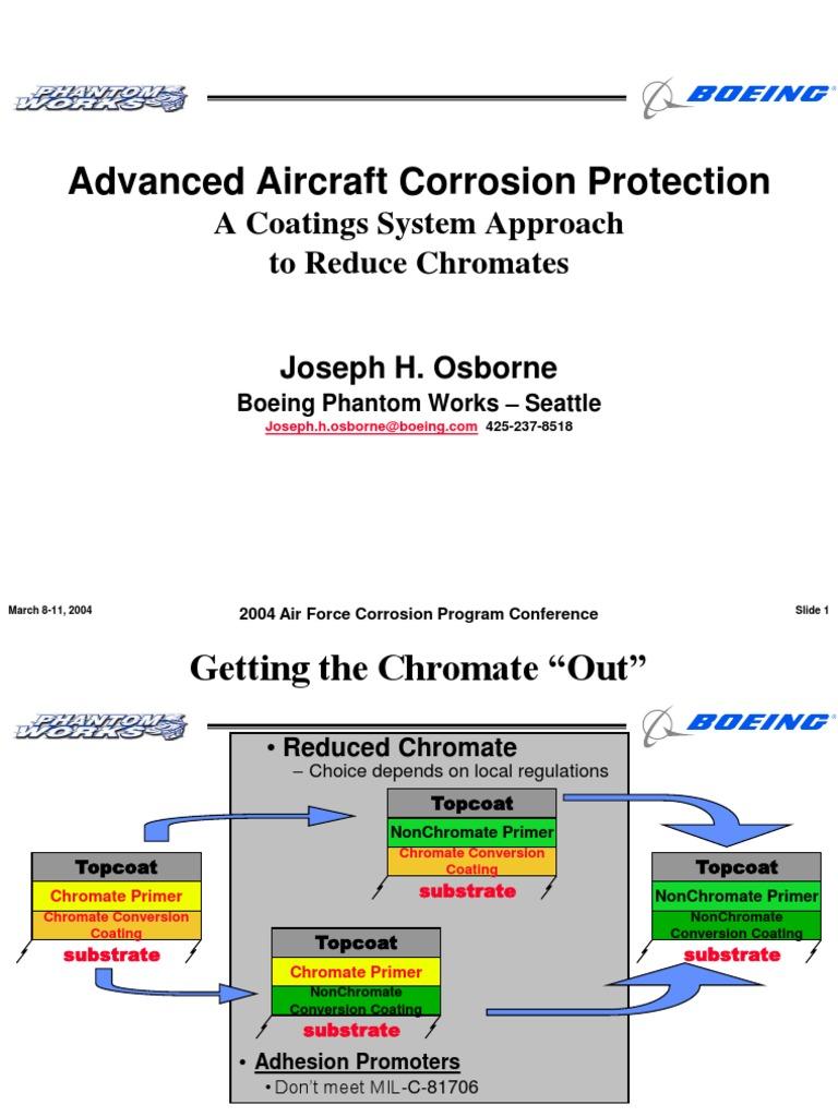 0850adv aircraft corr prot osborne boeing corrosion paint rh scribd com Corrosion Prevention and Control Corrosion Prevention Products