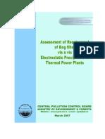 Assement of Bag Filter vs ESP CPCB