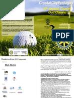 2012 Golf Tournament Booklet