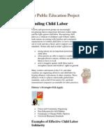 Ending Child Labor