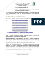 Unidad 3 PRUEBAS DE HIPÓTESIS CON UNA MUESTRA