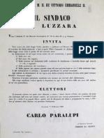 Luzzara, Elezioni politiche del 1860