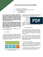 Caracterización de un protocolo de pruebas