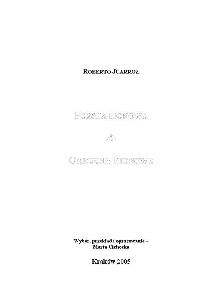Roberto Juarrozpoezja Pionowa