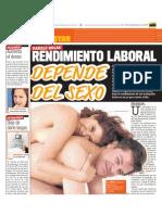 """Entrevista """"Satisfacción sexual y rendimiento laboral"""" (1)"""
