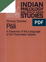 Pali. a Grammar of the Language of the Theravada Tipitaka.(Th.oberlies)(Berlin,2001)(600dpi,Lossy)