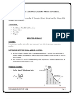 To Determine Elastic Critical Load of Metal Column for Different End Conditions