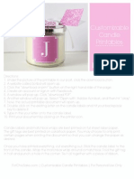 Customizable Candle Printables by For Chic Sake