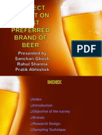 consumer behaviour presentation on preferred brand of beer