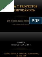 PRESENTACION DE TEORIA Y PROYECTOS CONTEMPORÁNEOS